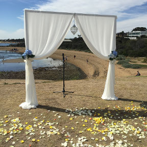 3 Post Arch with Draping
