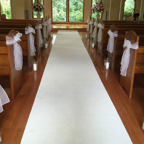 White Carpet Runner