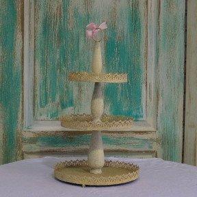 Peach Cake Stand