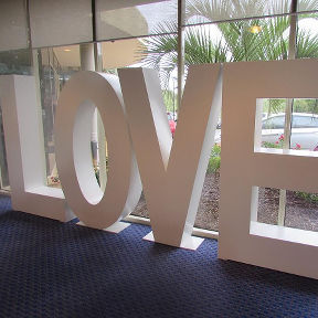 Giant Love Letters 6ft