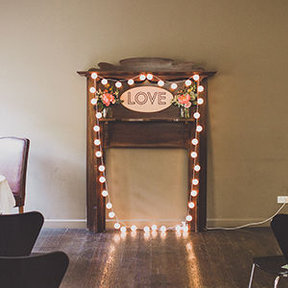 Vintage Fireplace Backdrop (POA)