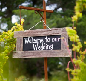 Welcome to our wedding sign small