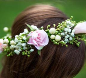 Sarah's flower crown